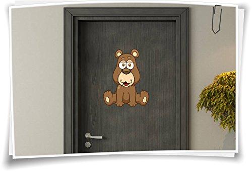 Medianlux deursticker kindersticker naam baby kinderkamer teddybeer beer