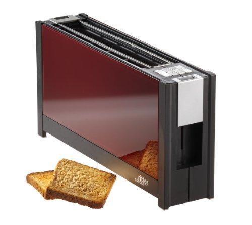 ガラスパネル付きRitter Toaster Volcano5、950.0ワット、赤