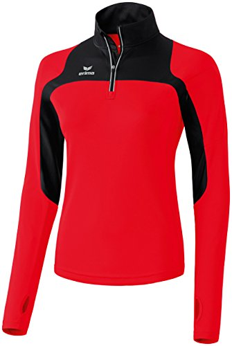 Erima Damen Running Longsleeve Race Line, Rot/Schwarz, 38
