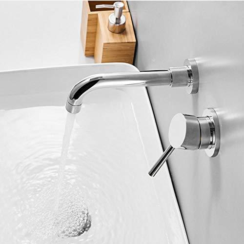Lddpl waterkraan gekleurde messing wastafel waterkraan muur met één hand dubbele greep waterkraan waterkraan