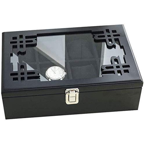 FFLJT Joyero - Vestir Caja de Madera Creativa Simple Reloj Retro Caja de Almacenamiento Caja de Acabado Multi-Red de la Caja de Reloj Colección Caja de Caja de presentación