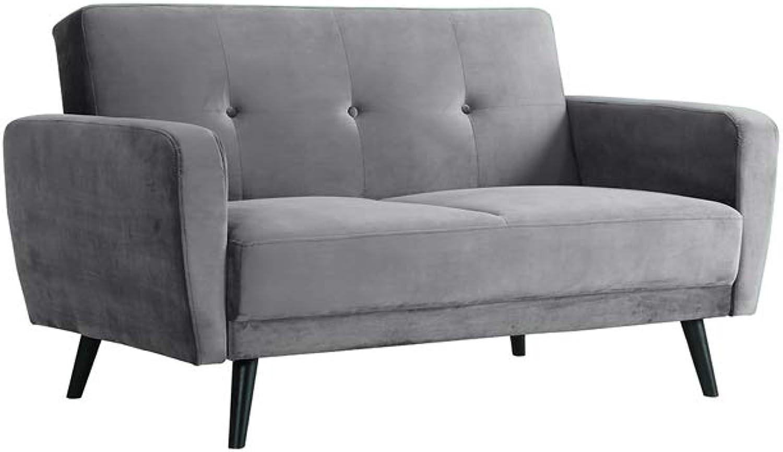 Esben 2 Seater Velvet Sofa Bed - Shadow