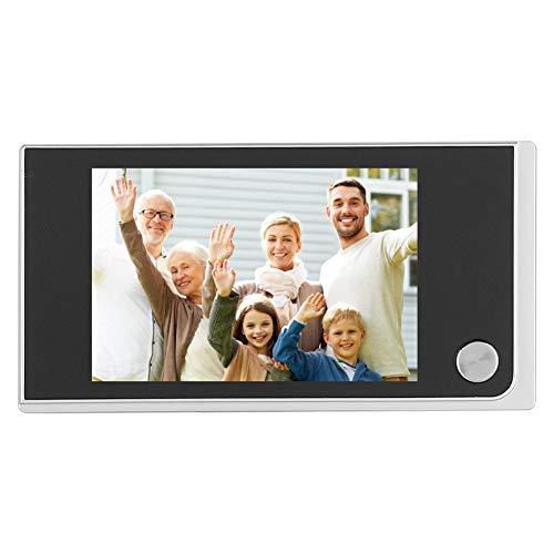 Videoportero, LCD de 3.5 Pulgadas Visual Inalámbrico Timbre Puerta Visor Puerta Mirilla 120 Grados Cámara con Ojo Gato Fácil de Instalar En Casa/Oficina