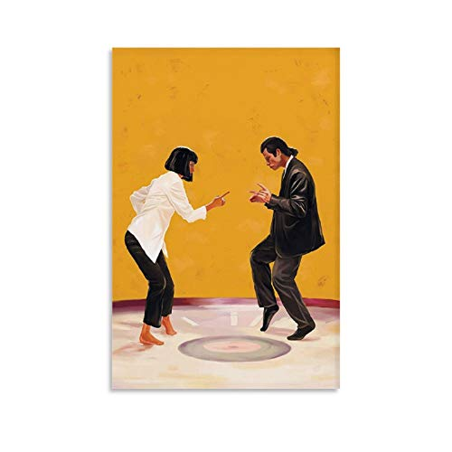 GANGPAO Klassisches Filmposter, Motiv: Pulp Fiction, Leinwand-Kunst, Poster, Bild, modernes Büro, Familie, Schlafzimmer, dekorative Poster, Geschenk, Wanddekoration, Gemälde, Poster