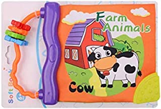 Baby CLOTH BOOK Infant Early Development Toy Baby doll toy CLOTH BOOKs - Cow Story Animal Learning