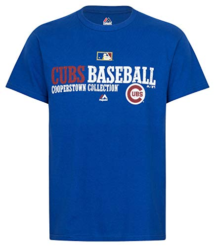 Majestic MLB Chicago Cubs Cooperstown Authentic Collection Shirt T-Shirt Tee T Baseball (XL)
