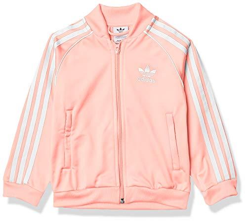 adidas Originals unisex baby Superstar Track Jacket, Haze Coral/White, Small US