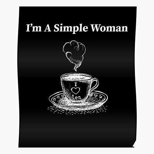 Humorous Flip Dog Simple Paw Flops Coffee Womens Home Decor Wall Art Print Poster !