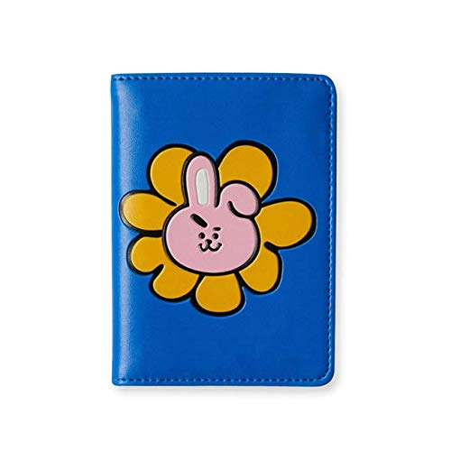 BT21 Official Merchandise by LINE Friends - Cooky Character Flower Design Passport Case/Cover