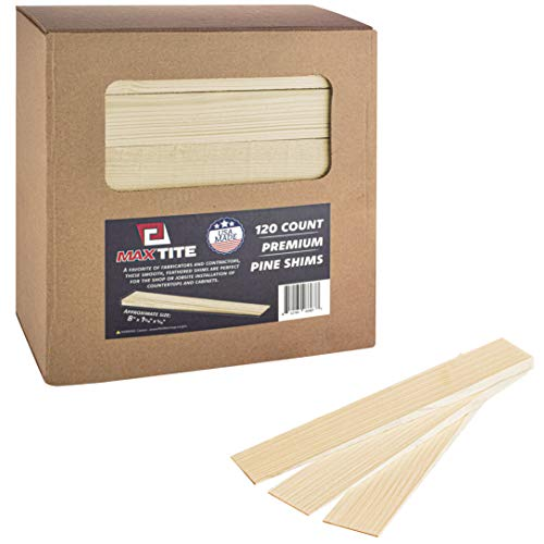 MaxTite Pine Wood Shims, Professional Contractor Grade (Box of 120)