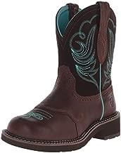 Ariat Women's Fatbaby Heritage Dapper Western Cowboy Boot, Royal Chocolate/Fudge, 7.5 M US