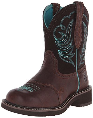 Ariat Women's Fatbaby Heritage Dapper Western Cowboy Boot, Royal Chocolate/Fudge, 7.5 M US