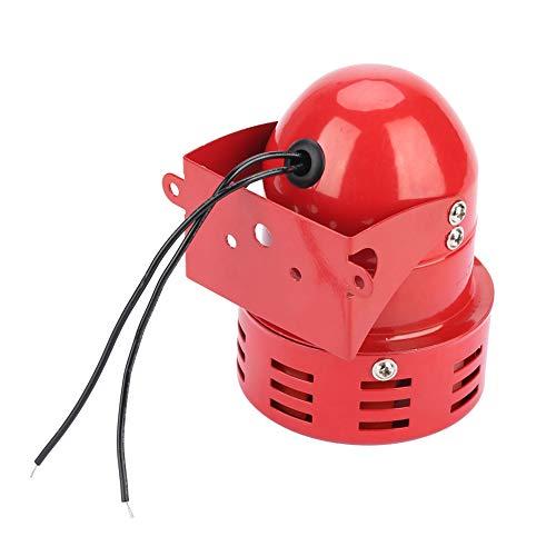 Sirena Alarma 220V 120DB Mini alarma de motor rojo, protector eléctrico de sonido industrial de metal MS-190 contra robo para fábrica, construcción