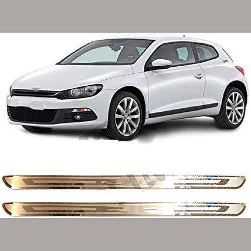 FXNB Passend Für Edelstahl-Verschleiss-Platten-Tür-Schwellen geeignet für Volkswagen VW Scirocco R MK3 2009-2020