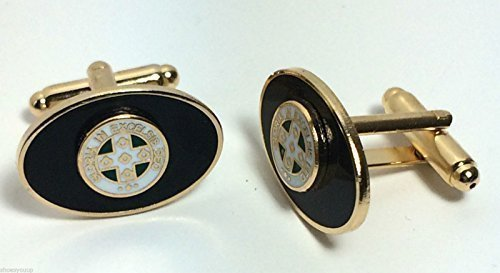 Avec symbole franc-Royal Order Of Scotland Boutons de manchette ronds en émail