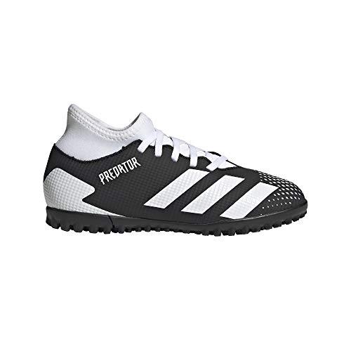 adidas Predator 20.4 S IIC TF J, Zapatillas de fútbol Unisex niños, NEGBÁS/FTWBLA/NEGBÁS, 35 EU