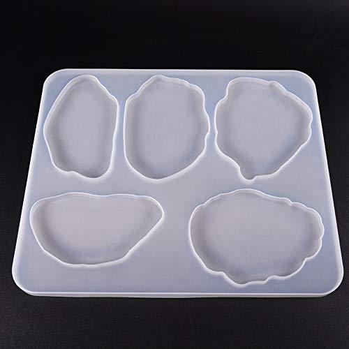 VOANZO Coaster Mold DIY Crystal Epoxy Lijm Mold Grote Tafel Multi-Standard Thee Coaster Silicone Mold