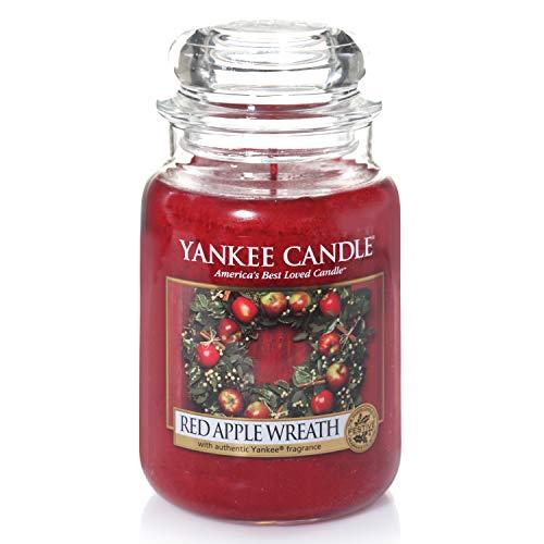 Yankee Candle Duftkerze im Glas (groß) | Red Apple Wreath | Brenndauer bis zu 150 Stunden