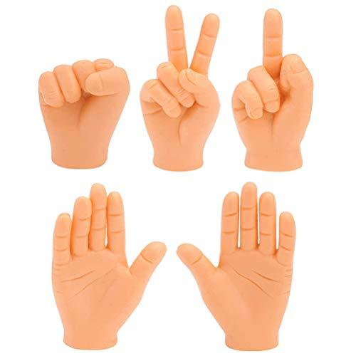 5 Stück Mini Finger Hände Lustige Fingerpuppe Kleine Hände Neuheit Spaß Tiny Hands Finger Requisiten Winzige Hände Streichspielzeug für Game Party