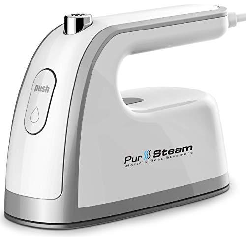 50% More Steam Flow - PurSteam Mini Travel Steam Iron with Handle