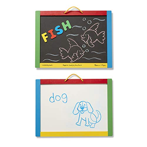 Melissa & Doug | Magnetic Chalkboard/Dry-Erase Board | Developmental Toy | Magnetic Activities | 3+ | Gift for Boy or Girl
