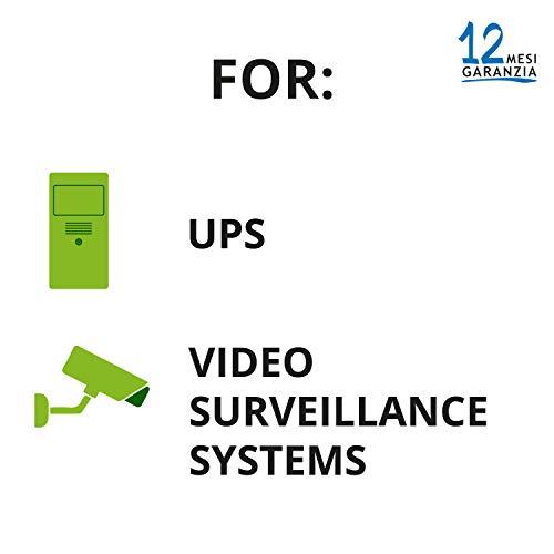 Tecnoware Batteria Ermetica al Piombo 12 V - per UPS, Sistemi di Videosorveglianza e Allarme - Attacco Faston 6.3 mm - Dimensioni 15,1 x 9,4 x 6,5 cm - Capacità 7 Ah