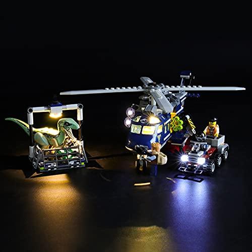 Kit De Iluminación Led para Lego Jurassic World Helicóptero De Blue,Compatible con Ladrillos De Construcción Lego Modelo 75928, NO Incluido En El Modelo