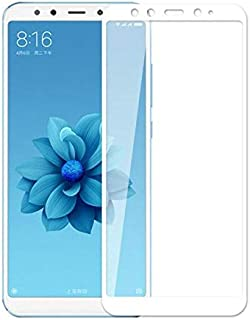 5D Tempered Glass for Xiaomi Mi A2 & Mi 6X Full Screen Protector - White Frame