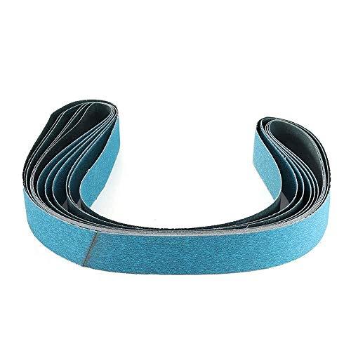 YELLAYBY Abrasive Tool 6pcs 2 x 72 Inch 120 Grit Zirconia Sanding Belt Metal Grinding Polishing Sander Tool Set Kit