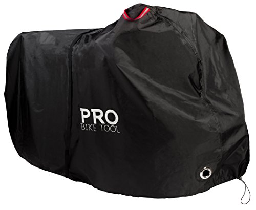 PRO Bike Cover for Outdoor Bicycle Storage - XXL 2-3 Bikes - Heavy Duty Ripstop Material, Waterproof & Anti-UV - Protection from All Weather Conditions for Mountain & Road Bikes