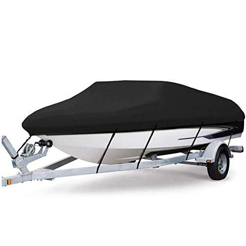 Ljings Cubierta para Embarcación Personal, Cubierta para Bote Remolcable Poliéster 210D Impermeable, Protección para Botes Pesca Casco En V Tres Cascos,700 * 300cm