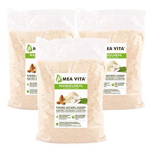 MeaVita Farina di Mandorle Meavita, Naturale, Scottata, Confezione da 3 (3 X 1000G) in Un Sacchetto - 3040 g