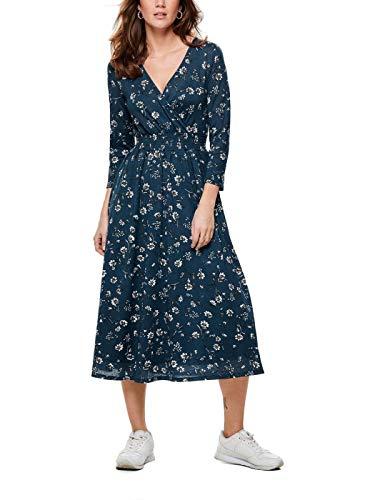 ONLY Damen Onlpella 3/4 Dress JRS Kleid, Mehrfarbig (Insignia Blue AOP: Flower Field), Small (Herstellergröße: S)