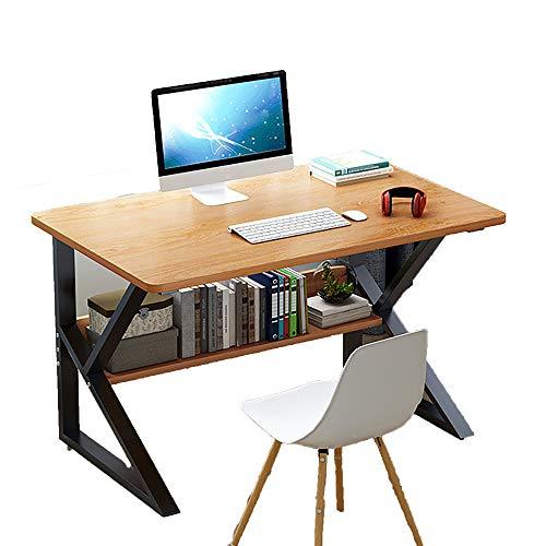 QINJIE Escritorio simple y moderno para el hogar, escritorio de escritorio, escritorio de estudio, color beige