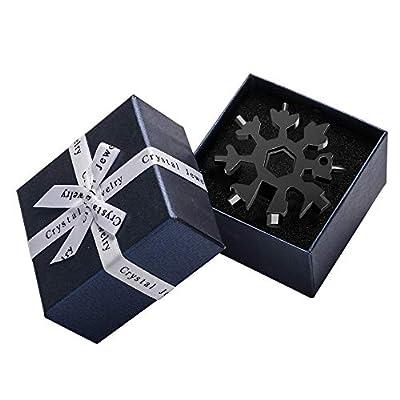 Saker 18-in-1 Snowflake Multi-Tool,Amenitee 18 In 1 Snowflake Multi-Tool Incredible Tool – Easy N Genius - Saker 18-in-1 Stainless Steel Snowflakes Multi-Tool (Black-GIFT (including Tool))