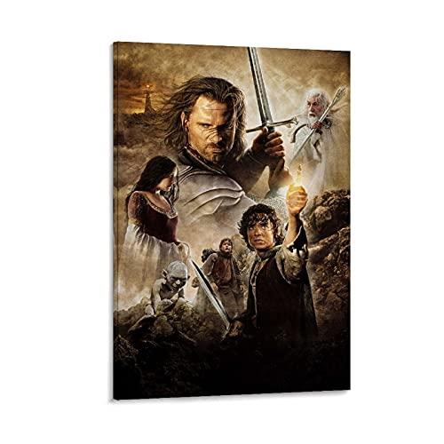 SDGSDF Póster decorativo de la película El Señor de los Anillos, cuadro decorativo de la pared, de 50 x 75 cm