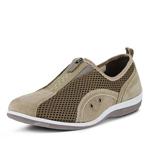 Spring Step Women's Racer Shoe, Taupe, 42 Medium EU (US 10.5-11 US)