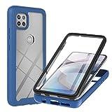TTNAO Hülle Kompatibel mit Motorola One 5G Ace 360 Grad Full Body Handyhülle mit eingebautem...