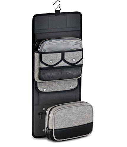 TSA Compliant Hanging Toiletry Travel Bag with Removable Dopp Kit