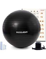 RGGD&RGGL Gymnastiekbal, voor kantoor, thuis, fitness, zwangerschap, pilates, yoga, scheurvast en extra dik materiaal, van scheurbestendig materiaal, eenvoudig oppompventiel, extra sterk (55-85 cm)