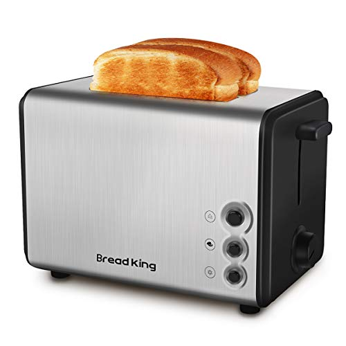 Toaster, 1.5in Wide Slot with Bagel/Reheat/Cancel Function Stainless Steel Cool Touch 2 Slice Black Toaster for Bread with Removable Crumb Tray, Toaster Oven, 2 Slice Toaster