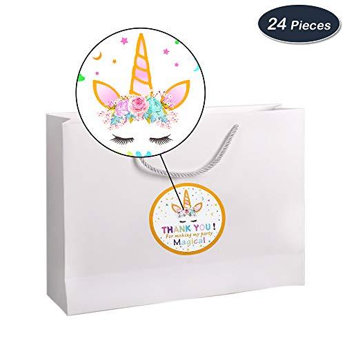 AMZTM Decorados Fiesta De Cumpleaños Conjunto para Mujeres Artículos para Fiestas Temáticas De Unicornios Happy Birthday (Unicornio Gracias Pegatina)