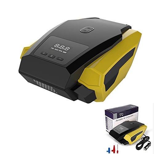 Compresseur d'air de voiture électrique 12 V Pneu Pompe Portable Auto Digital Gonfleur de pneu pour voiture Vélo Moto