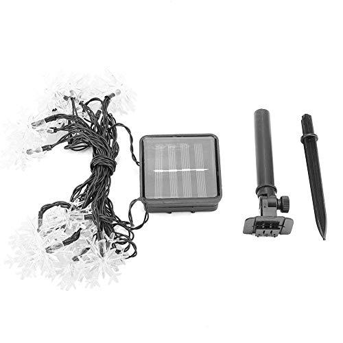Tuin Solar Lamp, 20 LED's Outdoor Sneeuwvlok Zonne-energie Lamp Tuindecoratie Lichtslingers voor Kerstmis