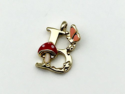 メルヘン森の動物 イニシャル チャーム 【B】 アルファベット ピアス ネックレス パーツ アクセサリーパーツ