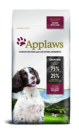 Applaws hond droog voedsel met lam, per stuk verpakt (1 x 2 kg verpakking)