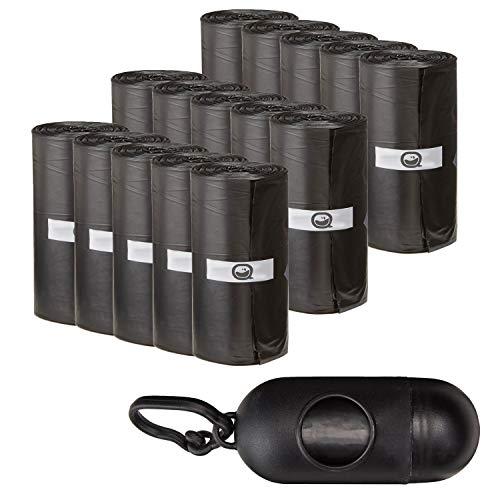 AQPET Sacchetti IGIENICI BUSTINE per BISOGNI Escrementi Cane Gatto Confezione da 300 Pezzi con Dispenser E Clip per GUINZAGLIO