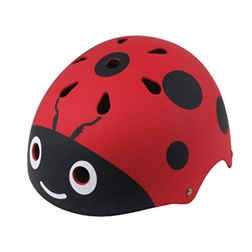VORCOOL Kinder Helm Fahrradhelm Skaterhelm Schutzhelm Kopfschutz für Baby Mädchen Junge Kleinkinder Damen Radfahren Eislaufen (Rot Marienkäfer)