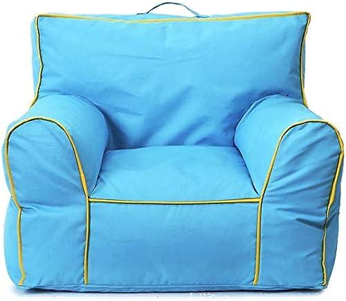Sillón Puf con Sofá Lazy Couch Tatami Bean Bag Kindergarten Niños Sofá Muebles para Niños Colors (Color   azul, tamaño   73  63  57CM)
