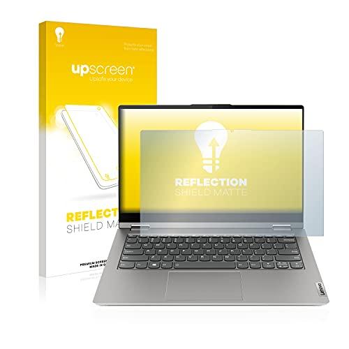 upscreen Entspiegelungs-Schutzfolie kompatibel mit Lenovo ThinkBook 14s Yoga – Anti-Reflex Bildschirmschutz-Folie Matt